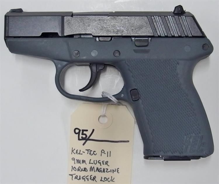 Lot 95: KEL-TEC P-11 9mm Luger Semi-Auto Pistol