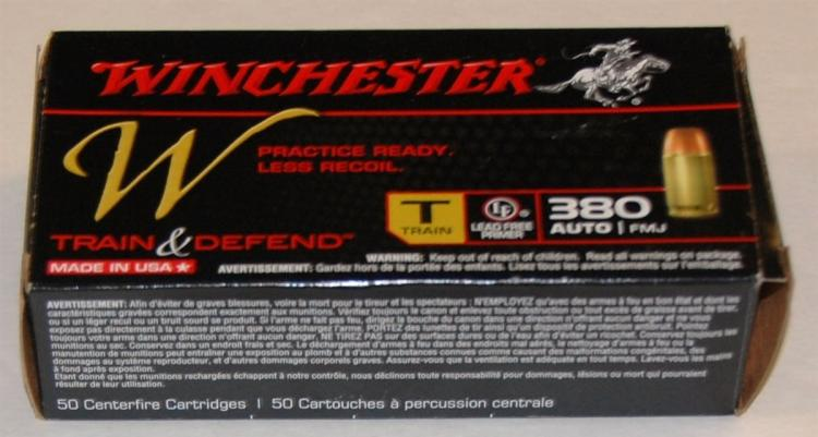 Lot 108: Winchester .380 cal. Ammo, 50 Rounds