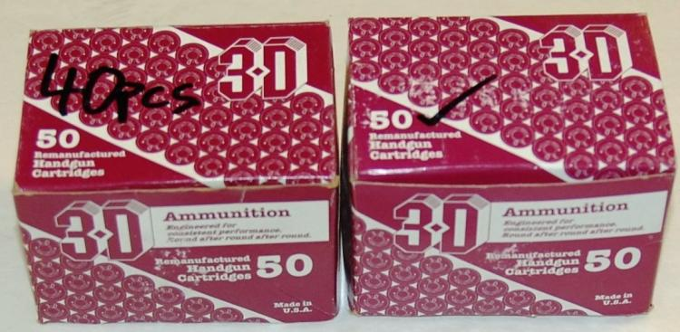 3-D .38 cal. SPL. Ammo, 90 Rounds