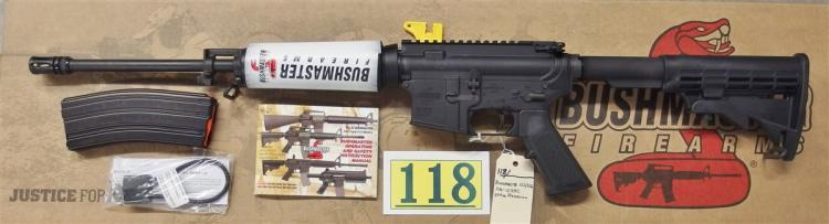 Lot 118: BUSHMASTER XM-15 QRC .223/5.56 Semi-Auto AR15 Rifle