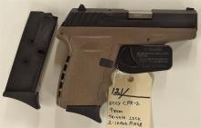 Lot 121: SCCY Model CPX-2 9mm Semi-Auto Pistol, NIB
