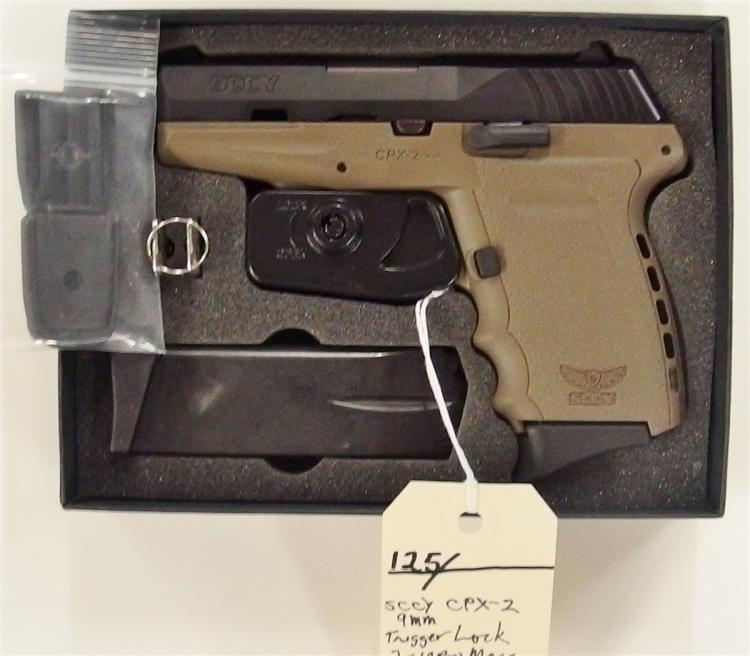 SCCY Model CPX-2 9mm Semi-Auto Pistol, NIB