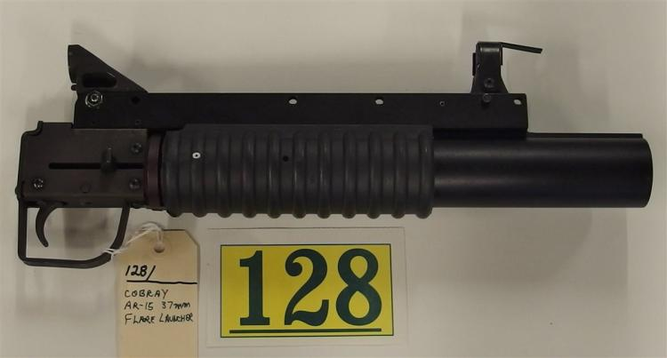 Lot 128: COBRAY 37 mm Military Flare Launcher, Mounts on AR-15 Rifles