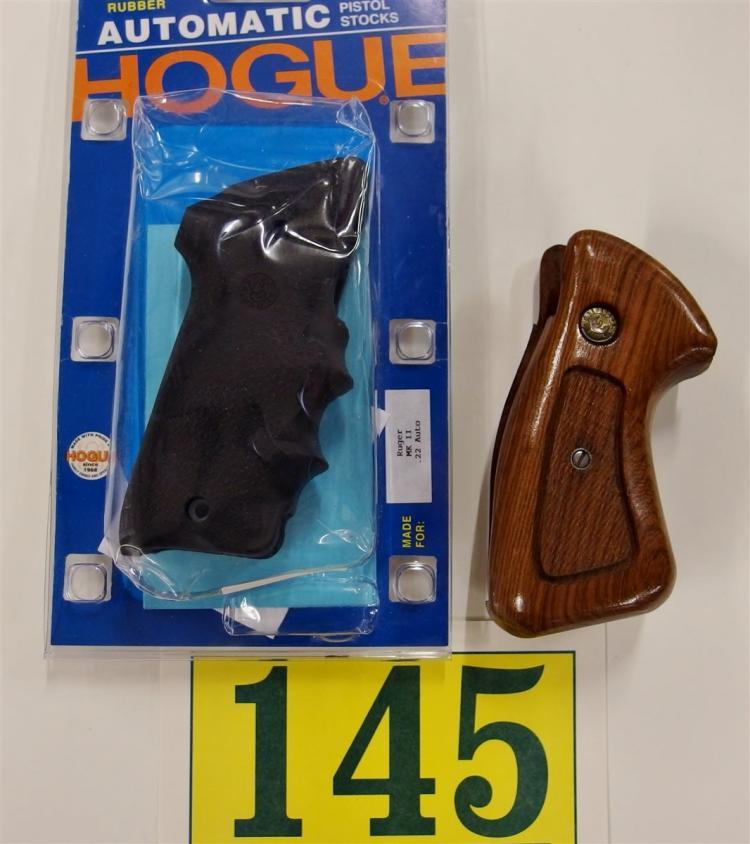 2 Pistol Grips – Hogue Ruger MK II, Taurus Medium Frame Revolver