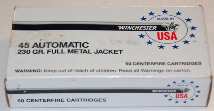 Lot 148: Winchester .45 Auto Ammo, 50 Rounds