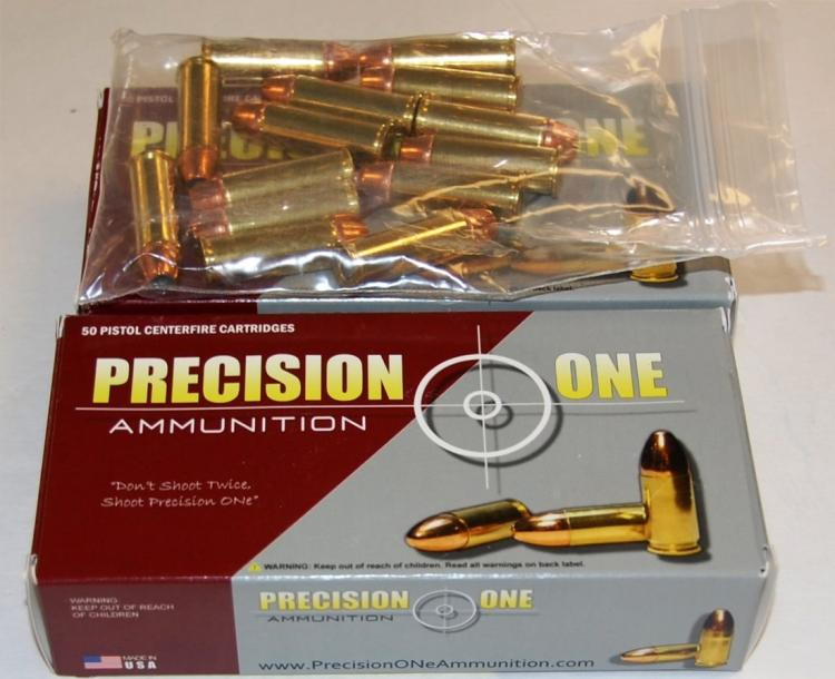 Precision One .44 Mag Hollow Point Ammo, 64 Rounds