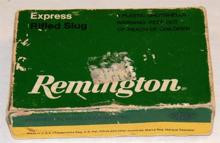 Remington 20 GA Shotgun Shells, Rifled Slugs, 5 Rounds