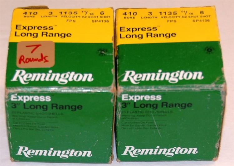 "Remington 410 GA Shotgun Shells, 3"", 32 Rounds"