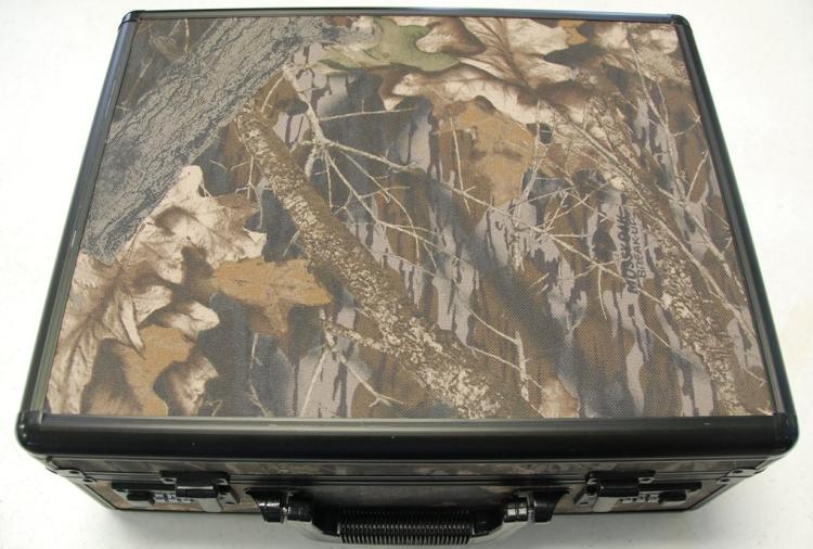 Hard Pistol Case, Locking Camouflaged, 16 x 14 x 6