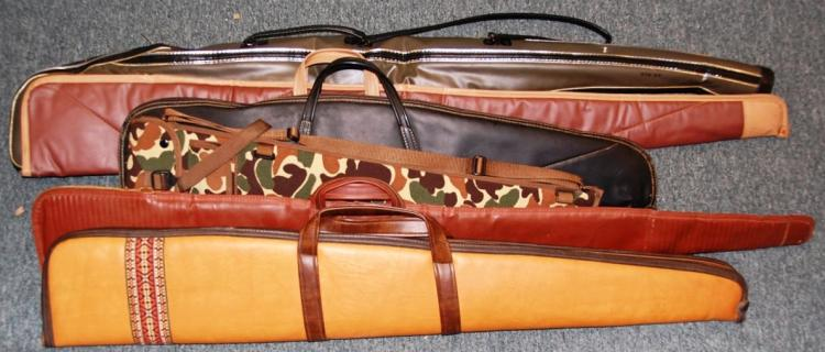 "6 Soft Side Long Gun Zippered Cases – Assorted 34"" to 52"""