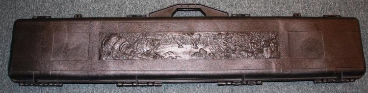 Contico Hard Plastic Long Gun Case, Wildlife Scene, 52 x 9