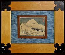 HIROSHIGE, ANDO (JAPANESE, 1797-1858) 21 MARIKO, COLOR WOODBLOCK