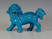 CHINESE TURQUOISE BLUE FOO DOG