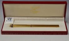 1970's  LE MUST DE CARTIER GOLD PLATED FOUNTAIN PEN