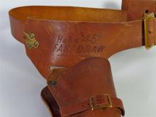 Lot 5: HIGH STANDARD Model W-100 REVOLVER 22 cal LR with Leather Holster