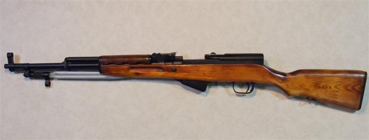 Lot 14: RUSSIAN SKS-45 1953 RIFLE 7.62 x 39 cal. Refurbished with Bayonnet