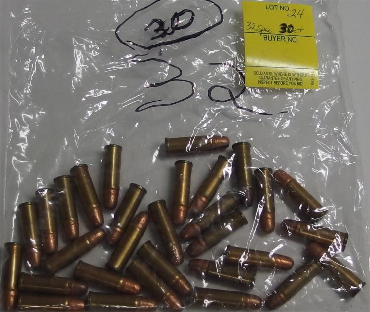Lot 24: 30 Rounds 32 Special