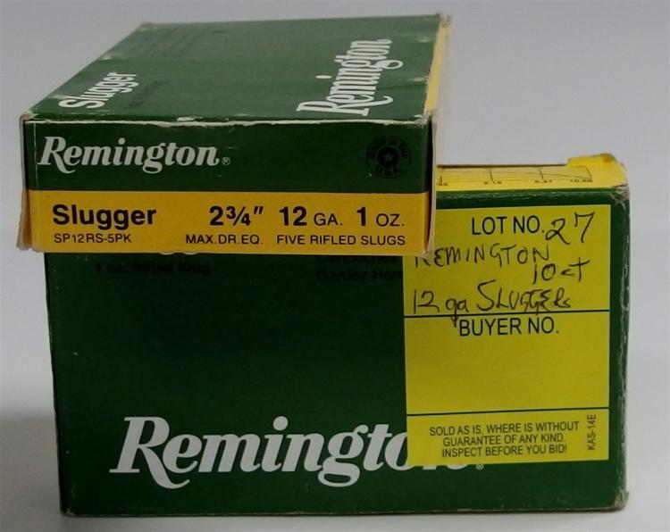 10 Rounds Remington Slugger 12g (5 Shells per Box)