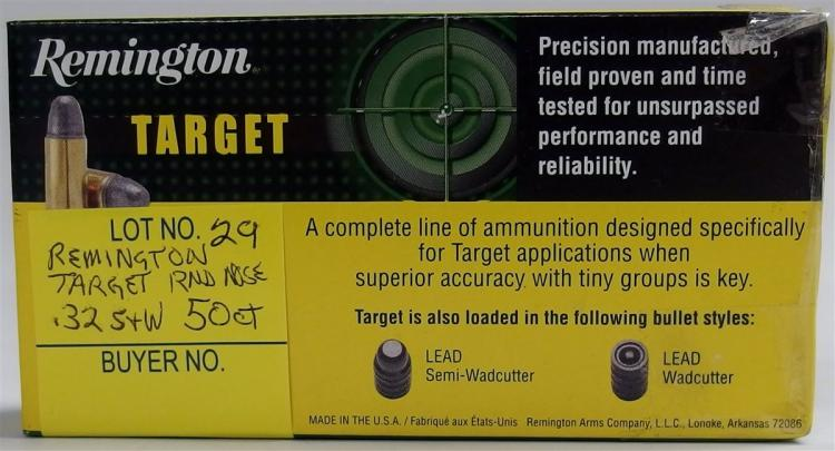 50 Rounds Remington Target 32 Pistol Round Nose