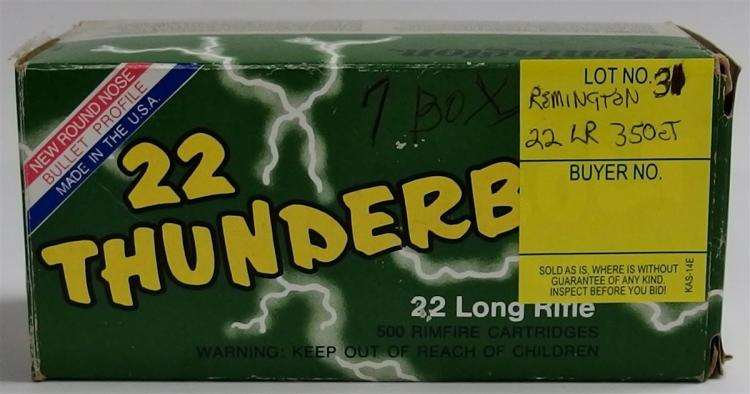 350 Rounds Remington Thunderbolt 22 LR
