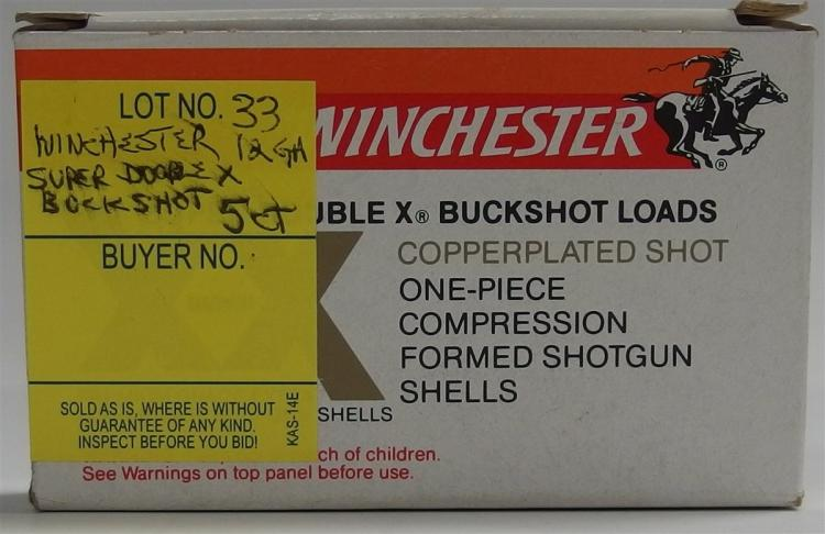 "5 Rounds Winchester Super Double X Buckshot 2-3/4"" Shells"