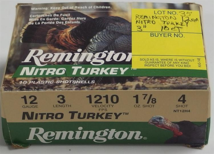 "10 Rounds Remington Nitro Turkey 12gr 3"" Shells"