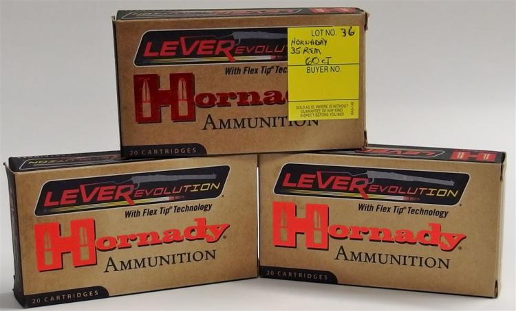 60 Rounds Hornaday 35 Rem (20 per Box)