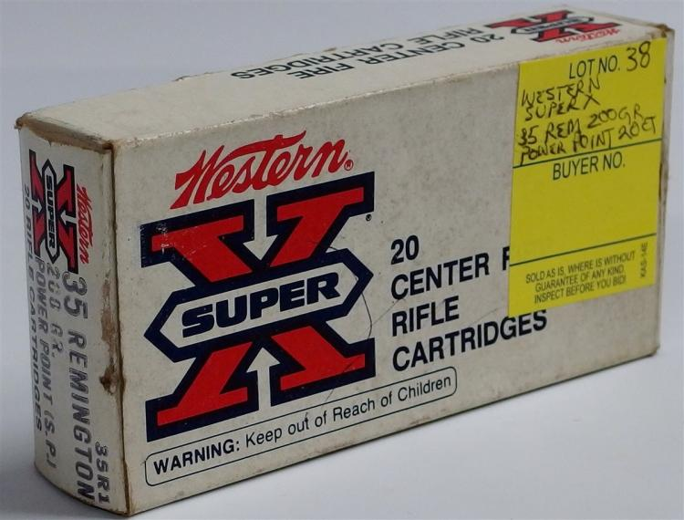 20 Rounds Western Super X 35 Rem 200gr Power Point