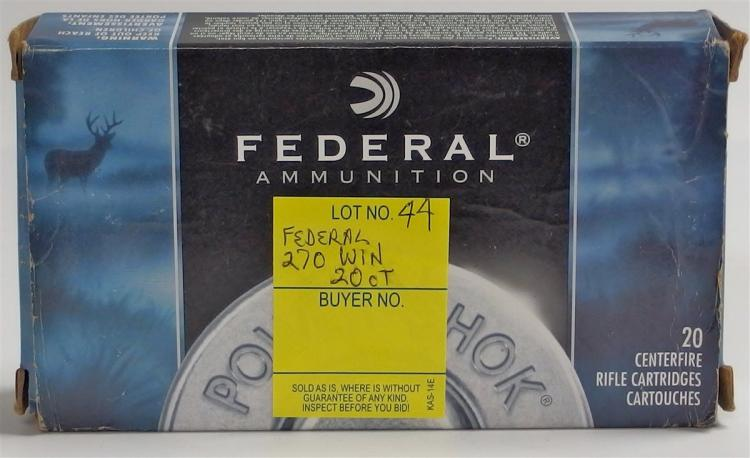 20 Rounds Federal Centerfire Cartriges 270 WIN