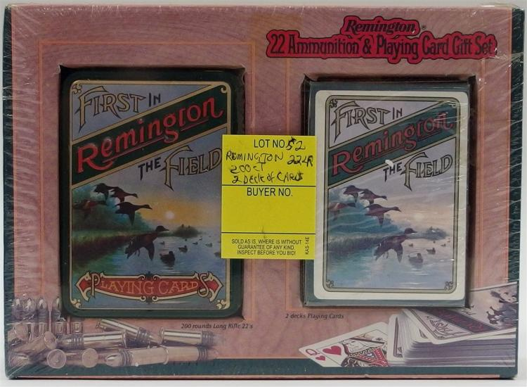 Remington 200ct. 22LR Ammo & Playing Cards Gift Set