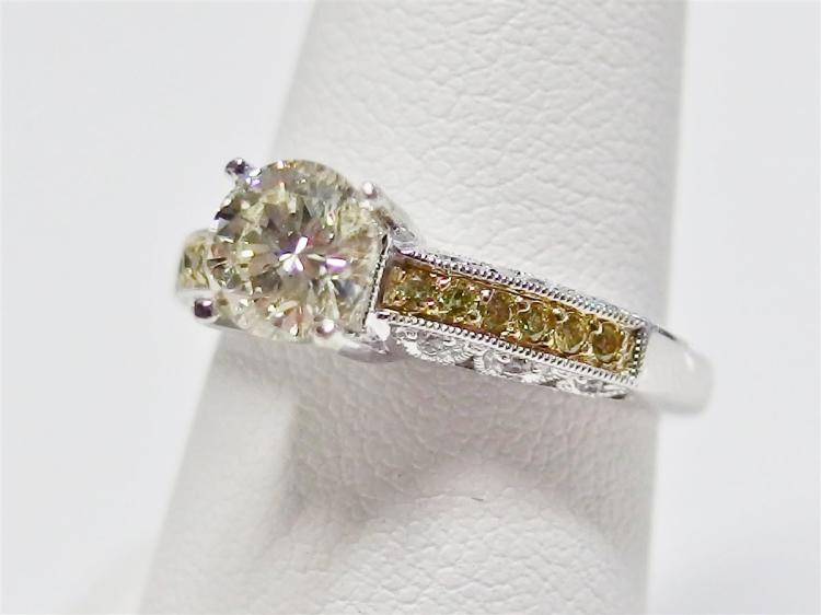 1ct. Diamond VS1 Clarity 14K White Gold Ring with Diamond Accents, 1.64ct TW