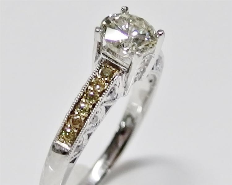 Lot 113: 1ct. Diamond VS1 Clarity 14K White Gold Ring with Diamond Accents, 1.64ct TW