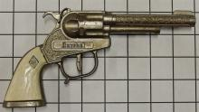 """Lot 5: Toy Cap Gun - 1960 Leslie Henry MARSHAL 50 Shot Repeater, White Stag Grip, 8-1/2""""L"""