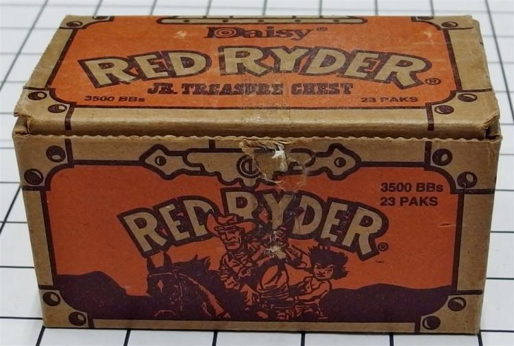 Toy Gun BB's – 1989 DAISY RED RYDER Jr. Treasure Chest #548, 8 paks Quick Silver BB's