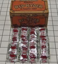 Lot 10: Toy Gun BB's – 1989 DAISY RED RYDER Jr. Treasure Chest #548, 8 paks Quick Silver BB's