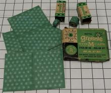 Lot 11: Toy Gun Paper Caps – 3 Boxes Mattel 1958 GREENIE Stik-M-Caps #634, GREENIES Repeating Rolls #635 with Contents