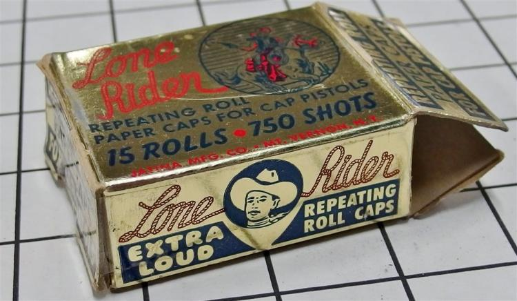Toy Gun Paper Caps – LONE RIDER Repeating Rolls with Contents