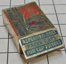Lot 14: Toy Gun Paper Caps – LONE RIDER Repeating Rolls with Contents