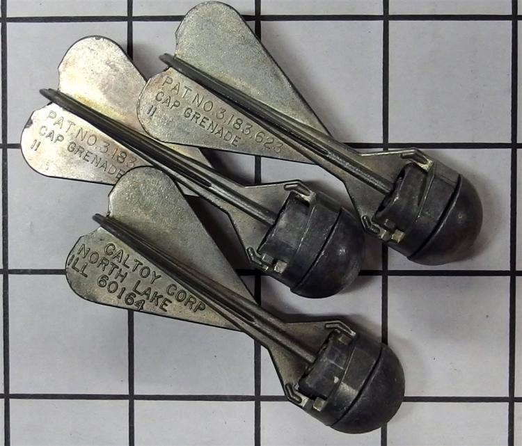 Lot 15: Toy Cap Grenade – 3 CALTOY Corp. Cap Grenade II