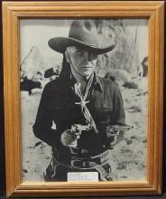 Lot 19: Western Movie Star Photo – HOPALONG CASSIDY, 11x14 B&W Glossy