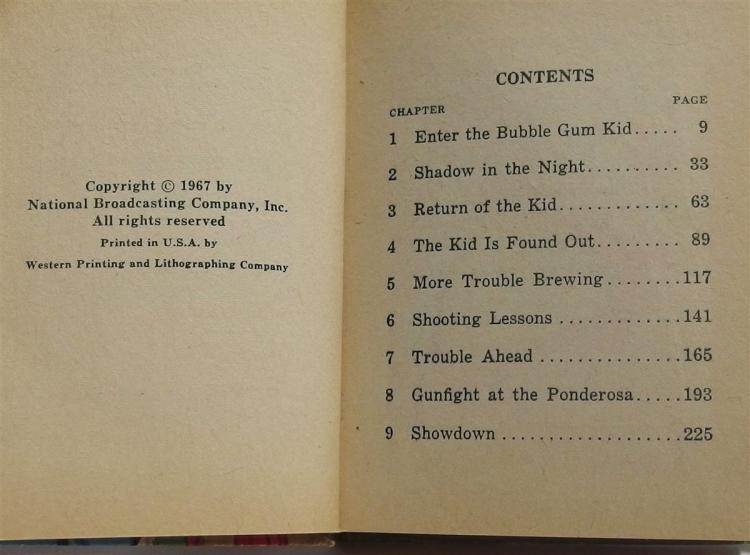 Lot 22: Big Little Book – 1967 BONANZA The Bubble Gum Kid, #2002