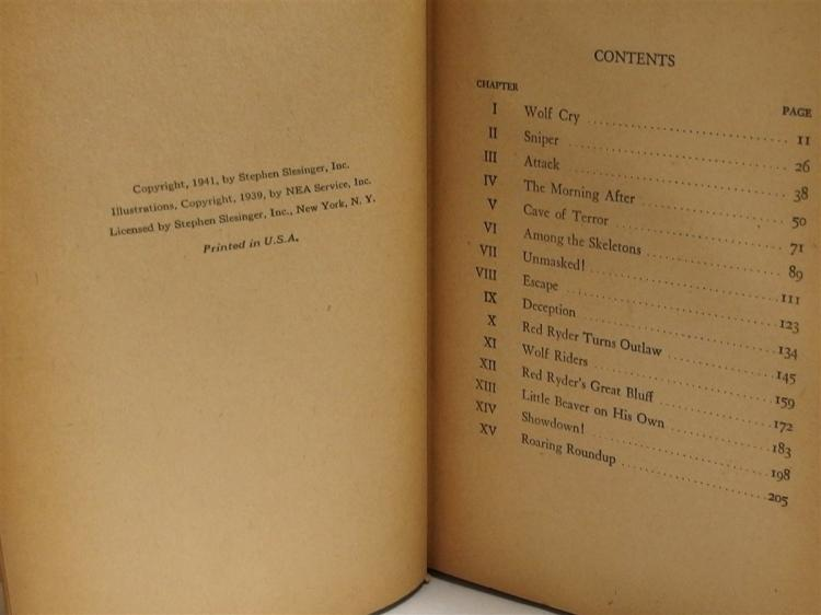 Lot 24: Book – 1941 RED RYDER The Secret of Wolf Canyon, #2344