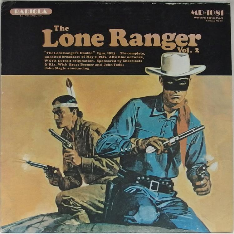 Vinyl Record 33-1/2 – THE LONE RANGER The Hood Milford Gang, Vol. 2 Western Series No. 5, Radiola