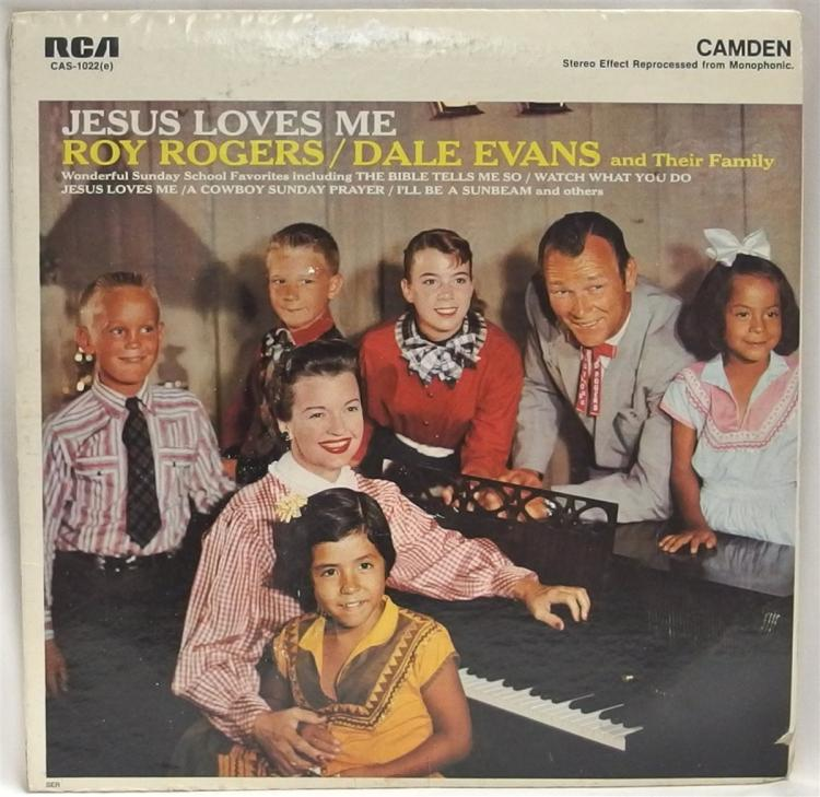 Vinyl Record 33-1/2 – ROY ROGERS, DALE EVANS & Their Family, Jesus Loves Me, 1960 RCA