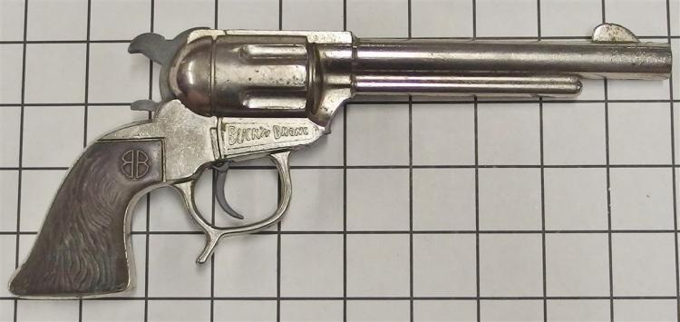 """Toy Cap Gun – BB Marshal, BUCK'N BRONC, Stag Grip, 10""""L"""