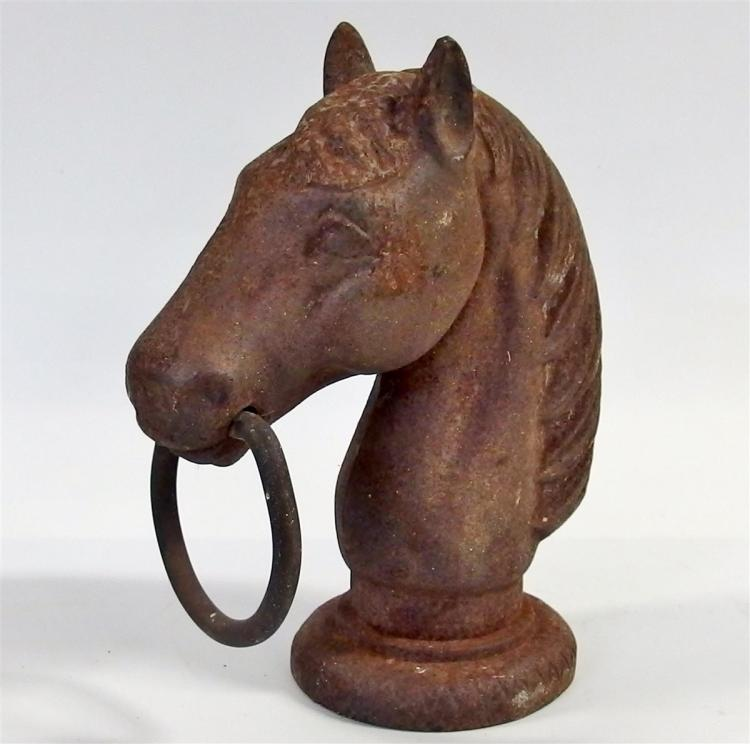 "Cast Iron Horse Head Hitching Post, 9-1/2""H"