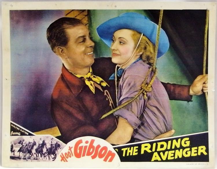 Movie Lobby Poster – HOOT GIBSON The Riding Avenger, 11x14