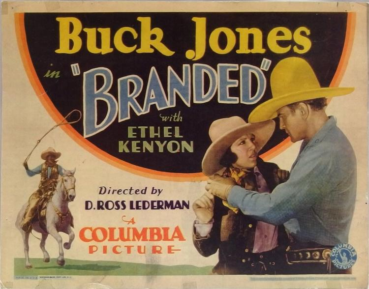 Movie Lobby Poster – BUCK JONES Branded, 11x14
