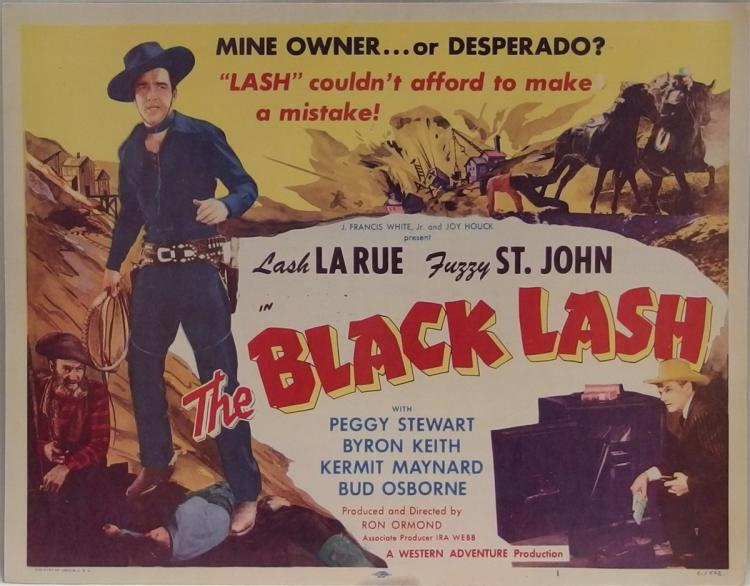 Movie Lobby Poster – LASH LA RUE The Black Lash, 11x14