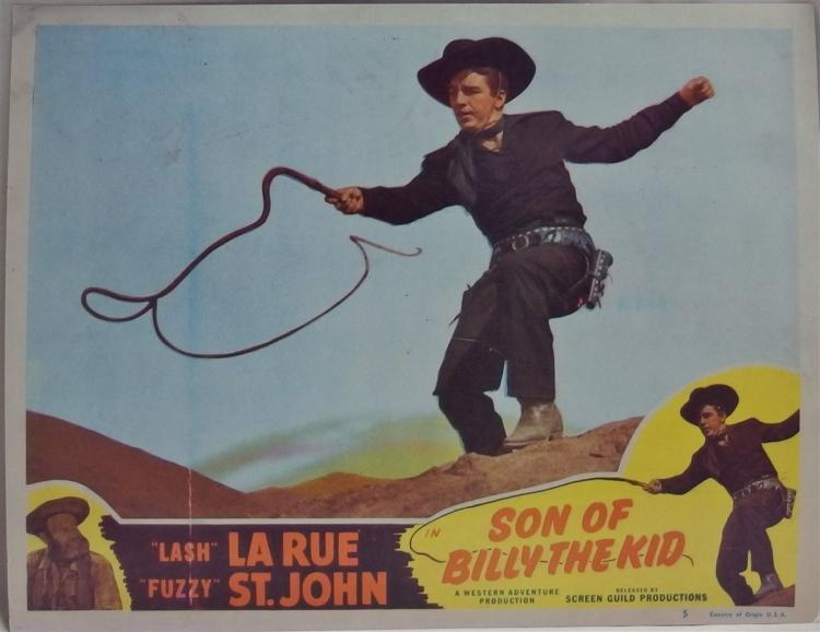 Movie Lobby Poster – LASH LA RUE Son of Billy The Kid, 11x14